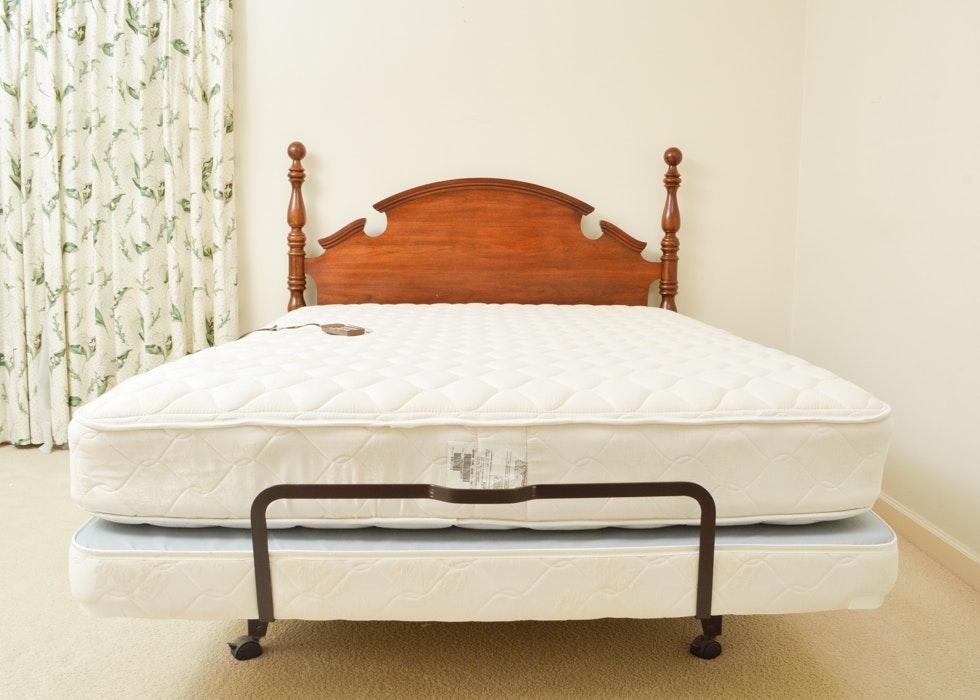 craftmatic adjustable bed with headboard : ebth