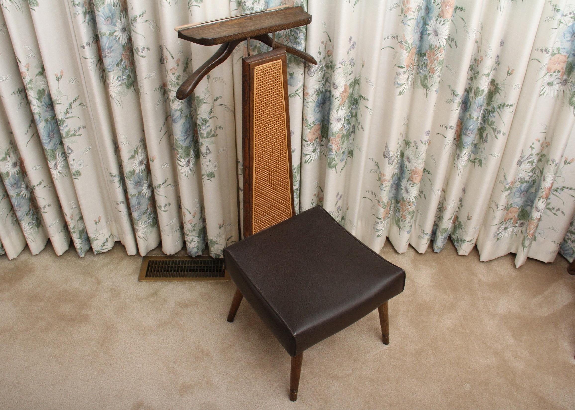 Mid Century Menu0027s Valet Butler Chair ...