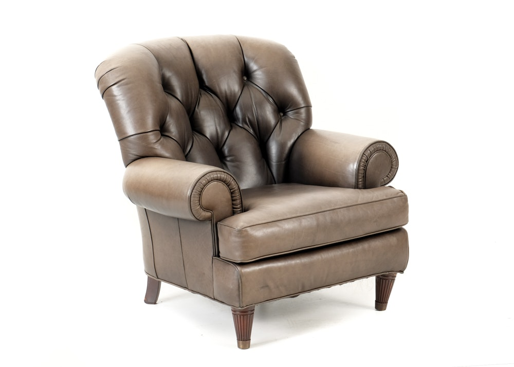 Black Leather Wingback Chair EBTH