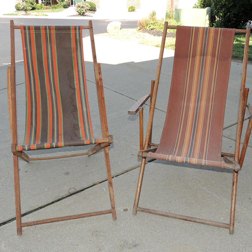 Antique Beach Lounge Chairs ... - Antique Beach Lounge Chairs : EBTH