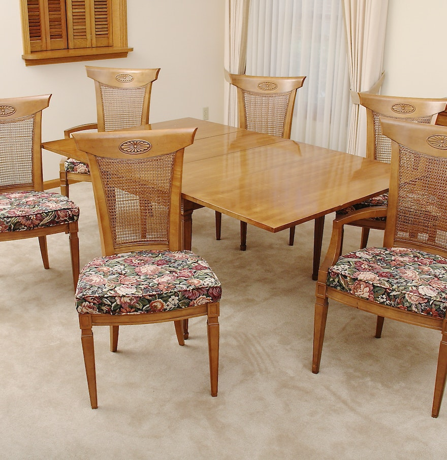 Drexel Palazzo Cherry Dining Table Set  EBTH - Drexel dining table