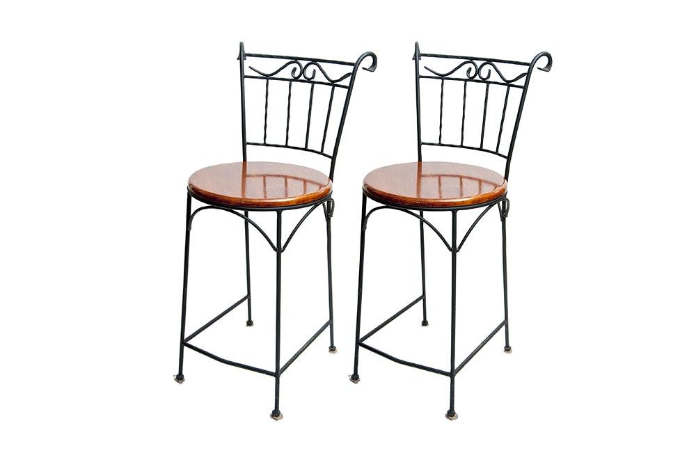 wrought iron bar stools - Wrought Iron Bar Stools