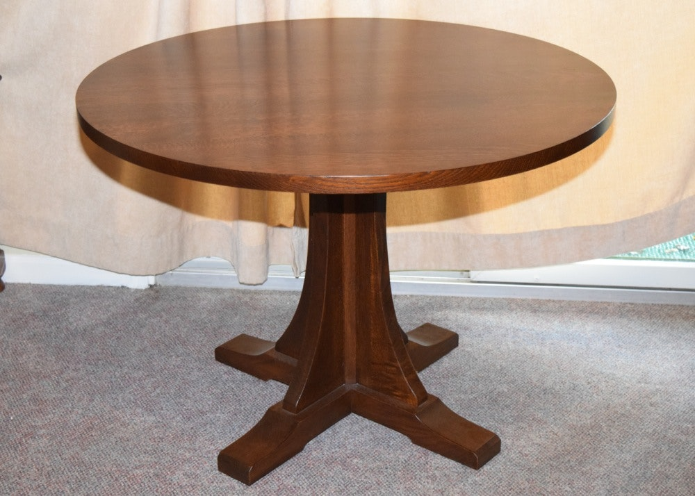 Stickley Oak Pedestal Table ...