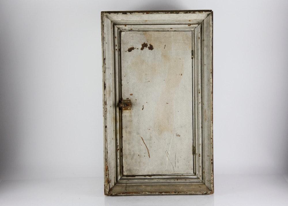 white wooden medicine cabinet ebth