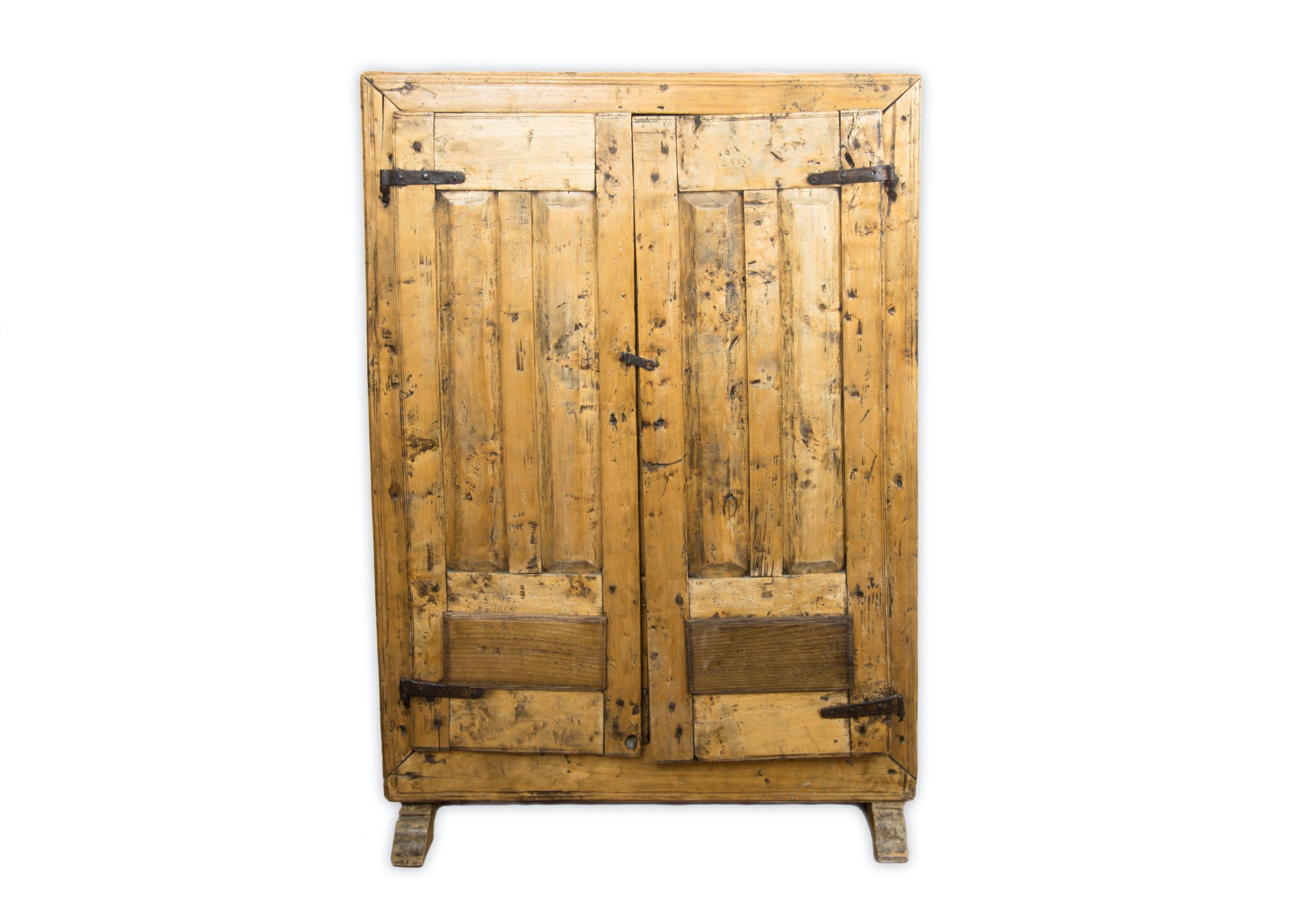 Antique Farmhouse Rustic Wood Pantry Cabinet ...