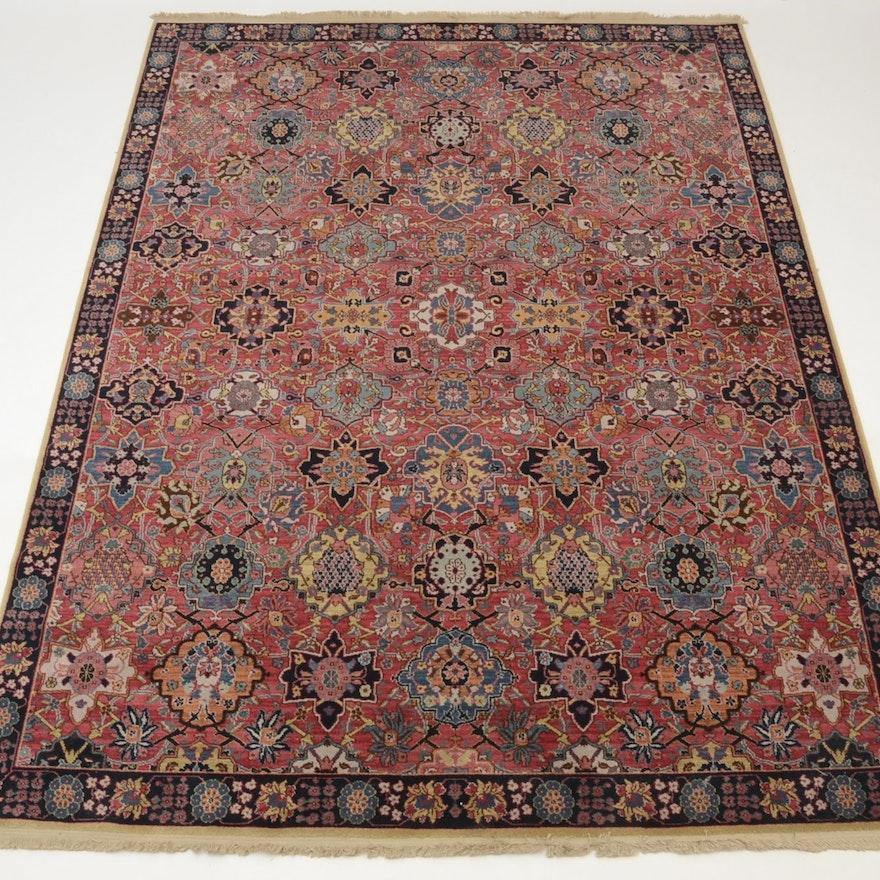 Persian Hand Woven Bakhtiari Style Wool Area Rug Ebth: Karastan Williamsburg Wool Rug : EBTH