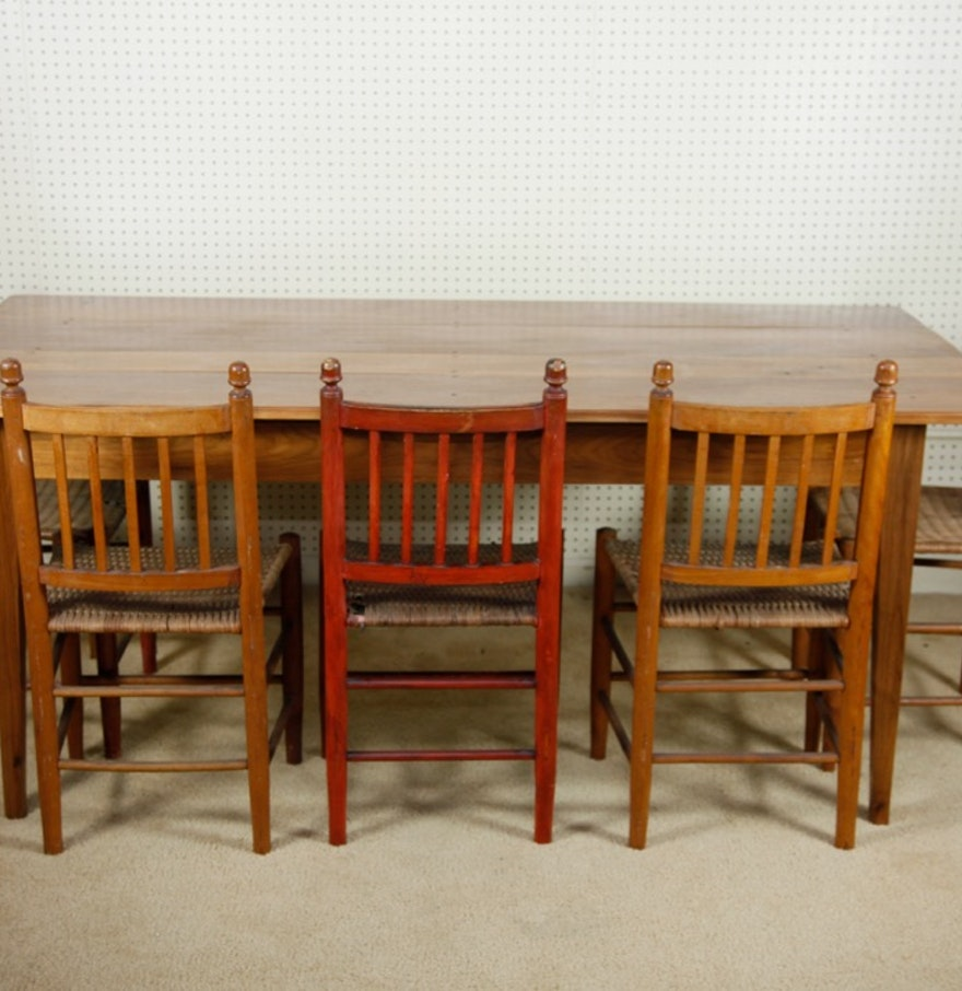 Southern Cherry Harvest Table And Chairs : EBTH