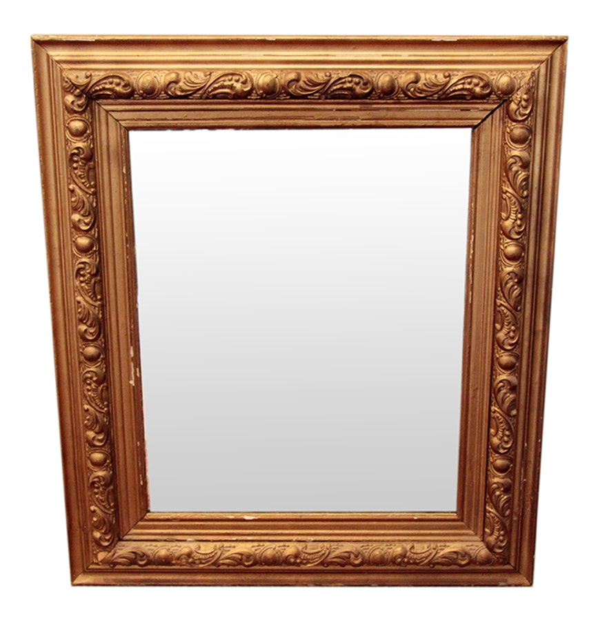 Wall mirror in an embellished frame ebth for Embellished mirror frame