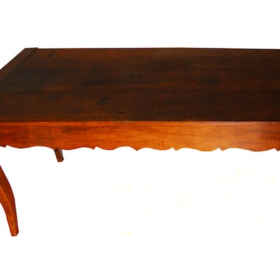 Antique French Provençal Farm Table - Online Furniture Auctions Vintage Furniture Auction Antique