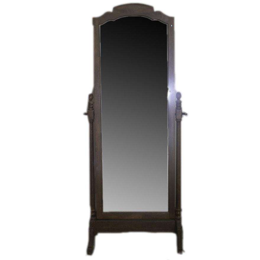 Ethan Allen Oak Floor Mirror : EBTH