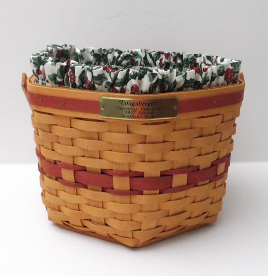 Longaberger 1997 edition christmas collection basket ebth Longaberger baskets for sale