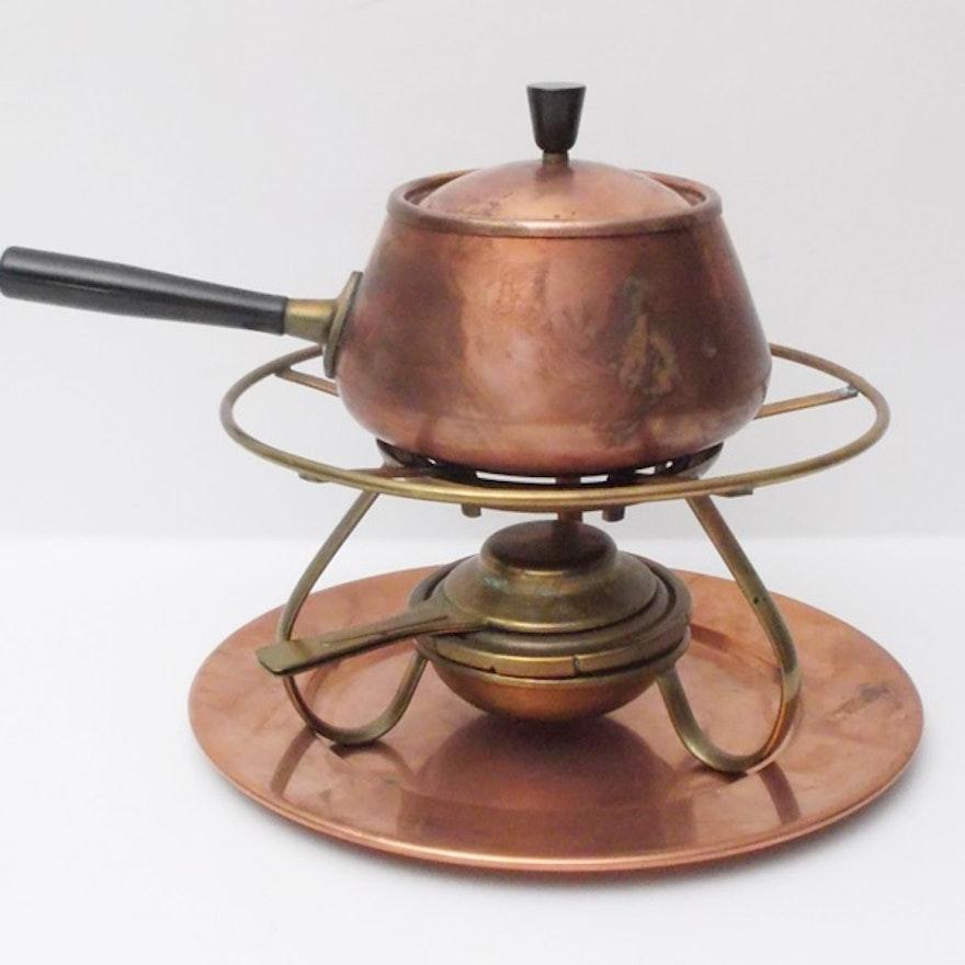 Spring Swiss Made Copper Fondue Pot