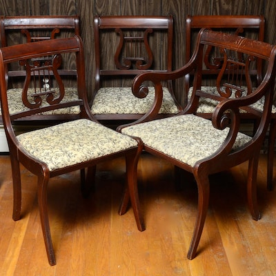 Five Upholstered Side Chairs - Online Furniture Auctions Vintage Furniture Auction Antique