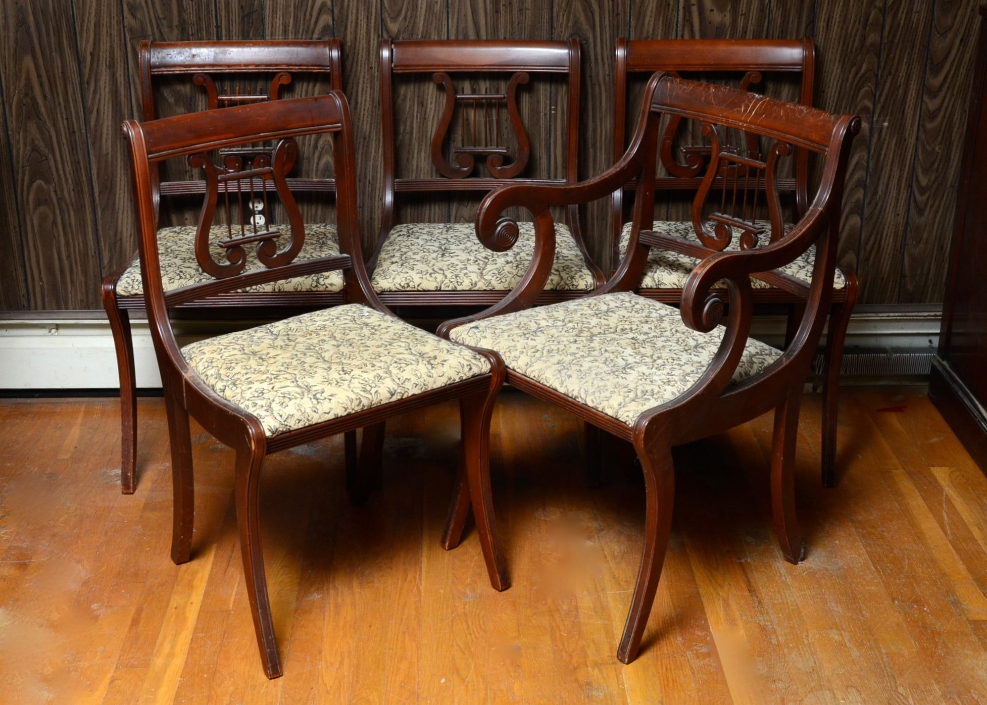 Five Upholstered Side Chairs