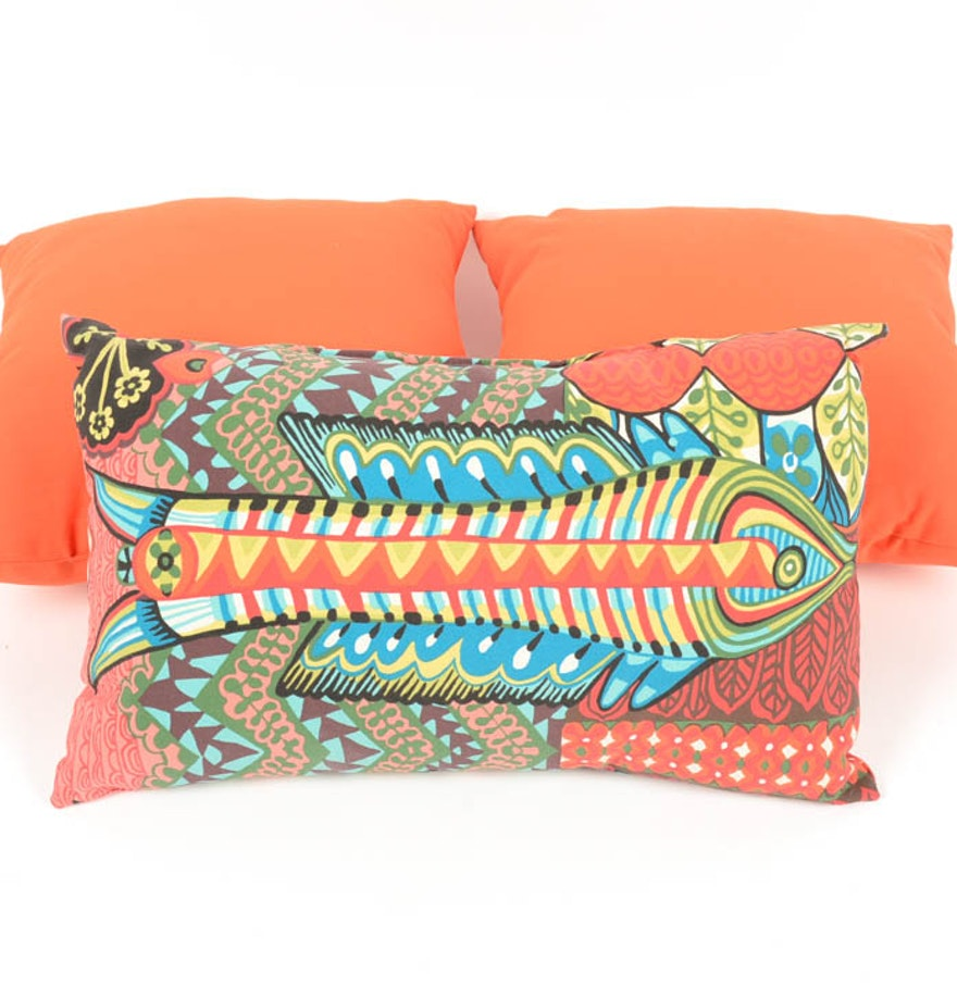 Decorative Pillow Trio : Trio of Throw Pillows : EBTH