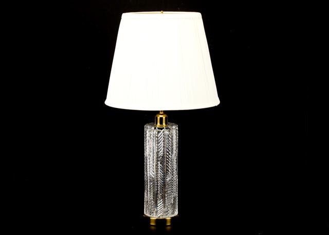 Waterford Crystal Cylindrical Table Lamp ...