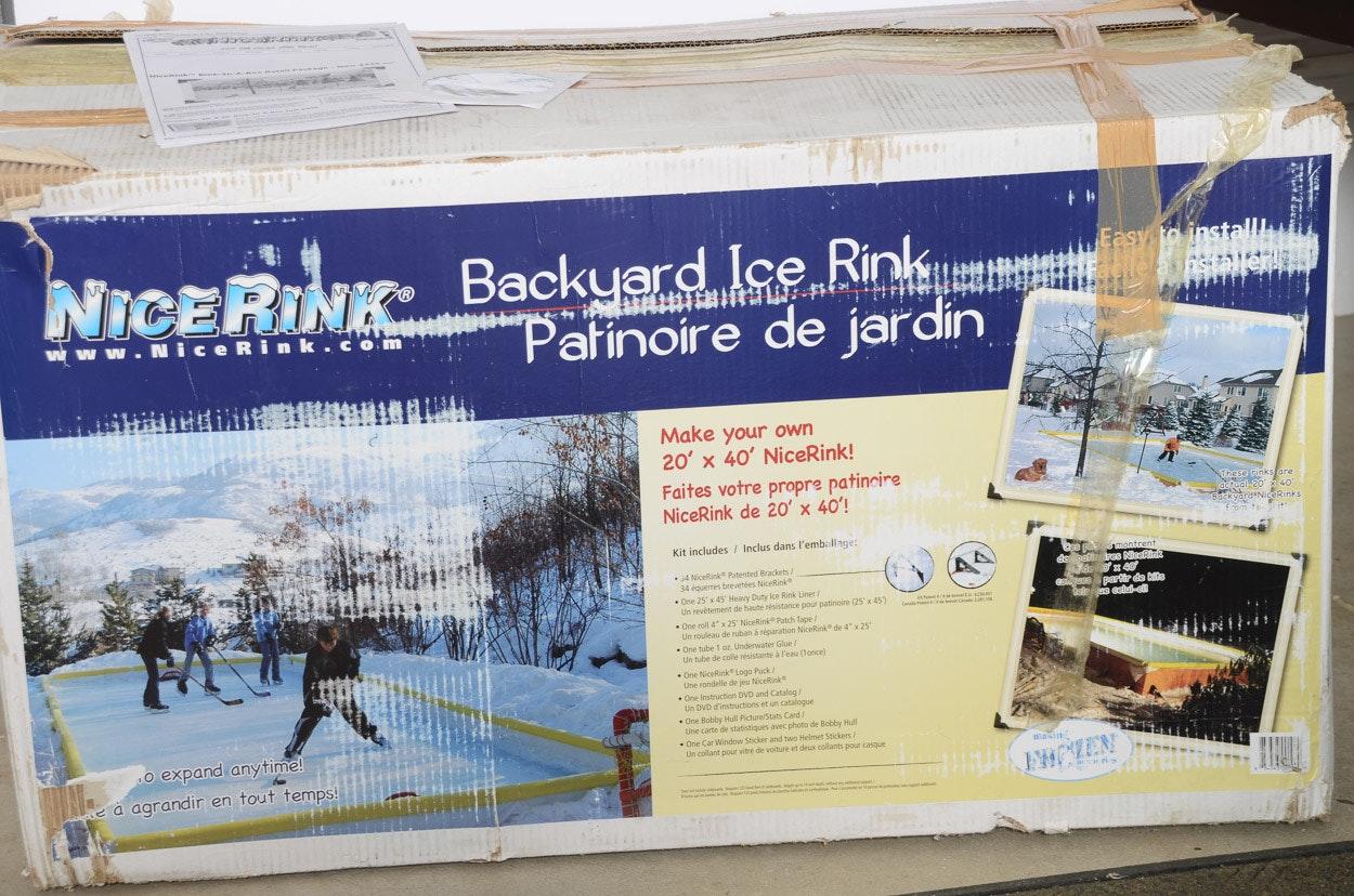 NiceRink 40u0027 X 20u0027 Backyard Ice Rink Kit ...