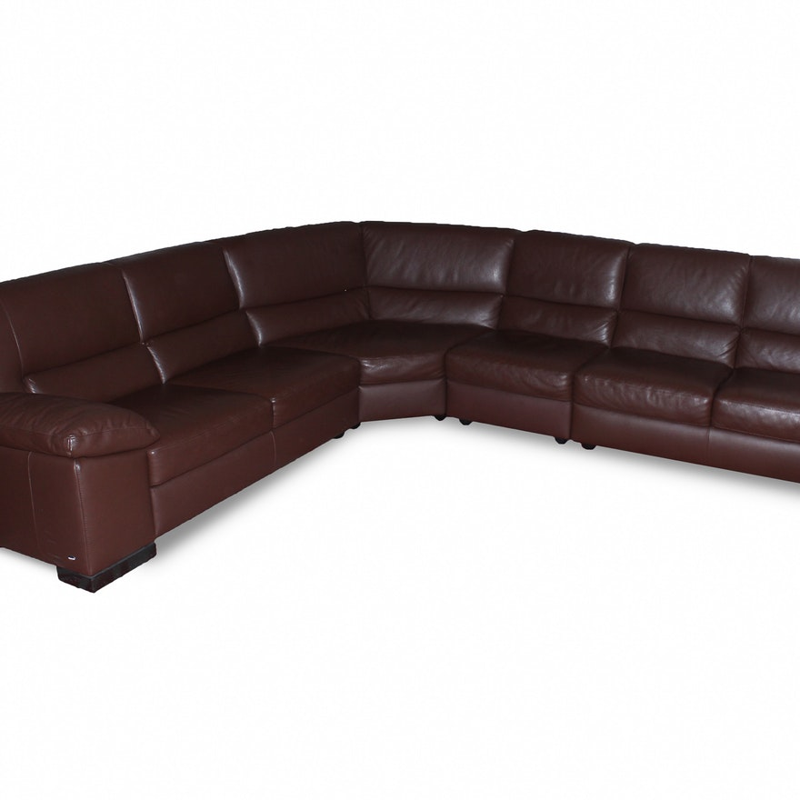 Italsofa Brown Leather Sectional