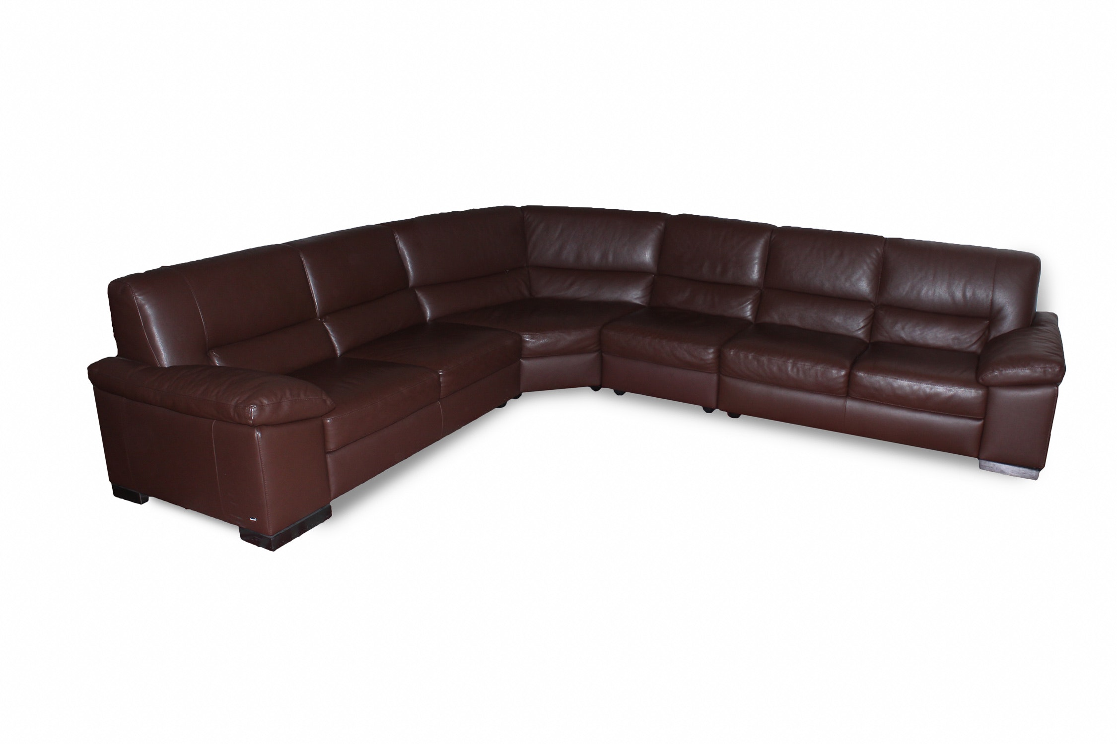 Ordinaire Italsofa Brown Leather Sectional ...