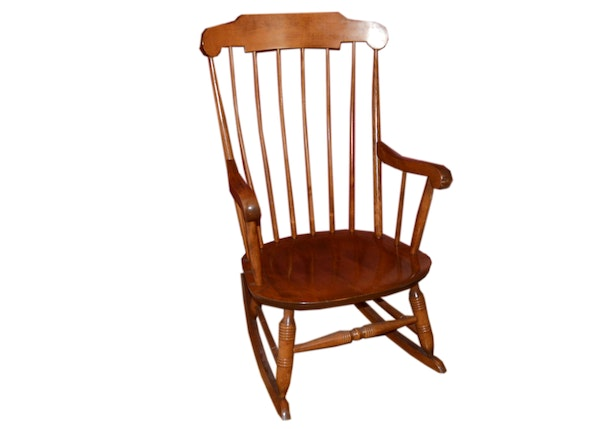 antique colonial style rocking chair ebth