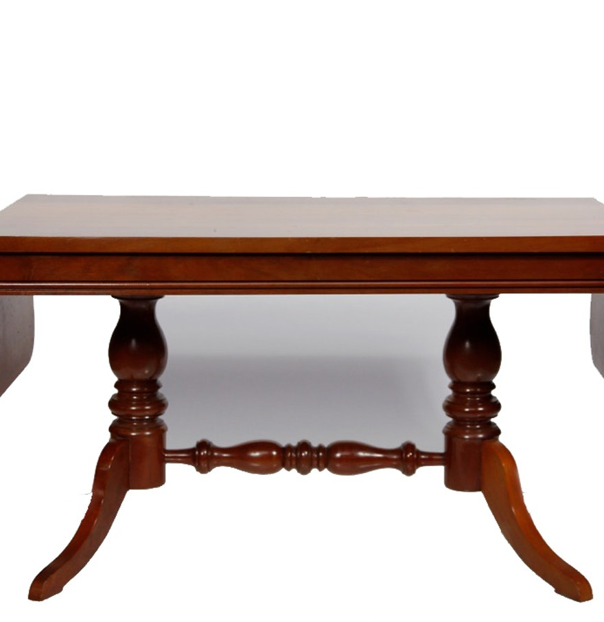 Cherry Drop Leaf Coffee Table Ebth