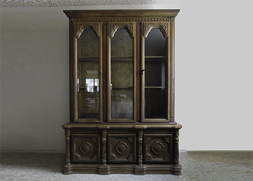 Superb Tall Mediterranean Style China Cabinet