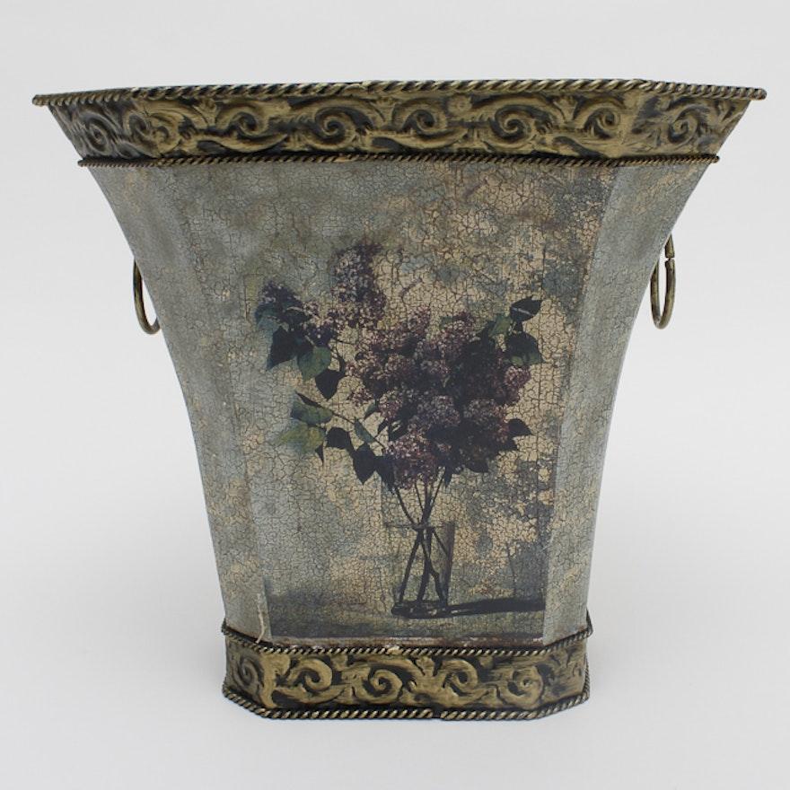 Decorative Tin Vase Ebth