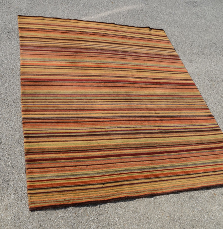 Crate&Barrel Striped Area Rug : EBTH
