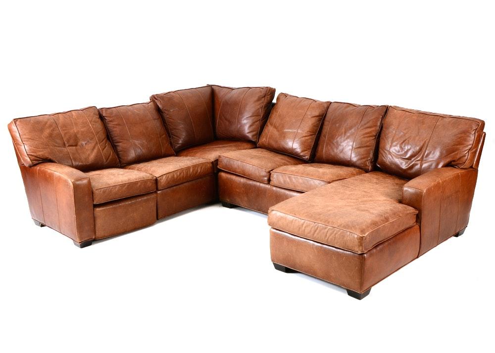 Arhaus Leather Sectional Sofa ...