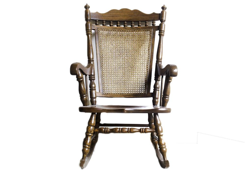 vintage tell city oak rocking chair ebth