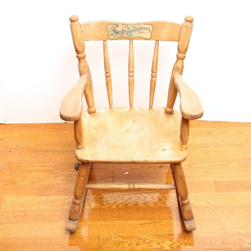 Vintage Rock-A-Bye Baby Rocking Chair