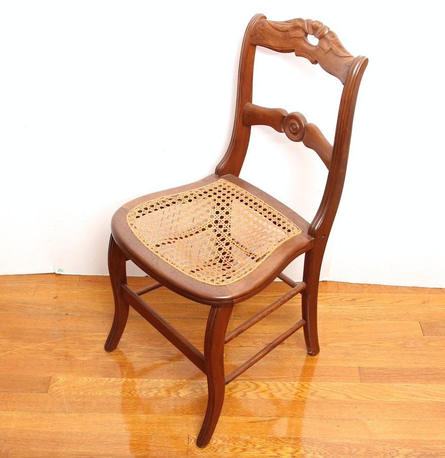 Antique Wood Child S Rocker Chair W Cane Seat Back Doll Teddy - Antique  Cane Seat - Antique Cane Seat Chairs Antique Furniture