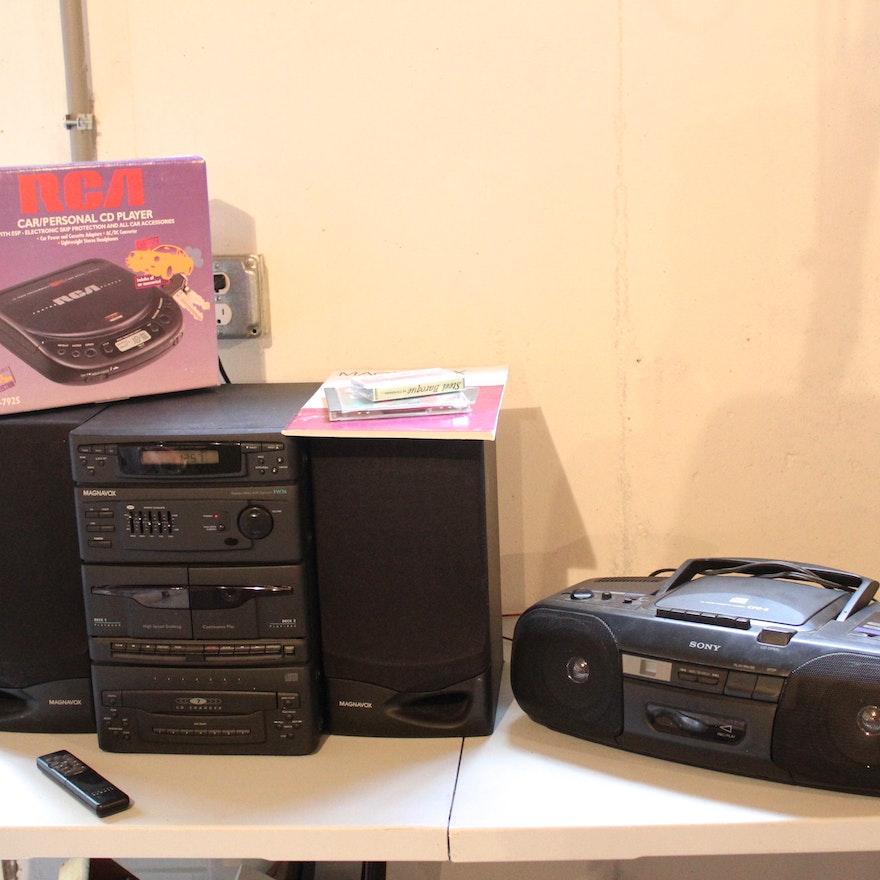 Magnavox stereo and sony portable radio and cd player ebth - Porta cd auto simpatici ...