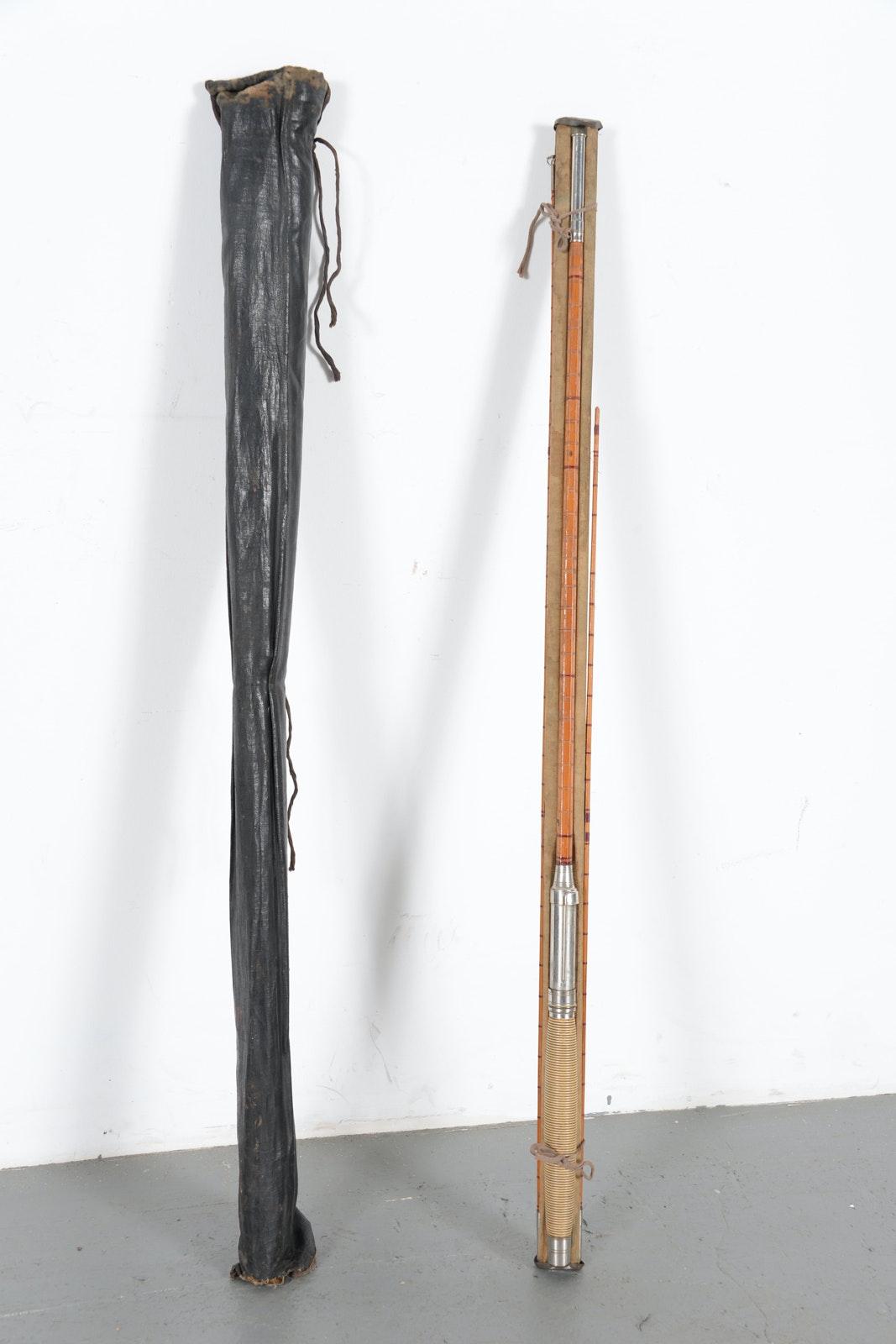 Vintage Argus Arai Bamboo Fishing Rod Ebth