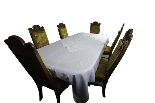 Mediterranean Style Dining Table And Six Chairs