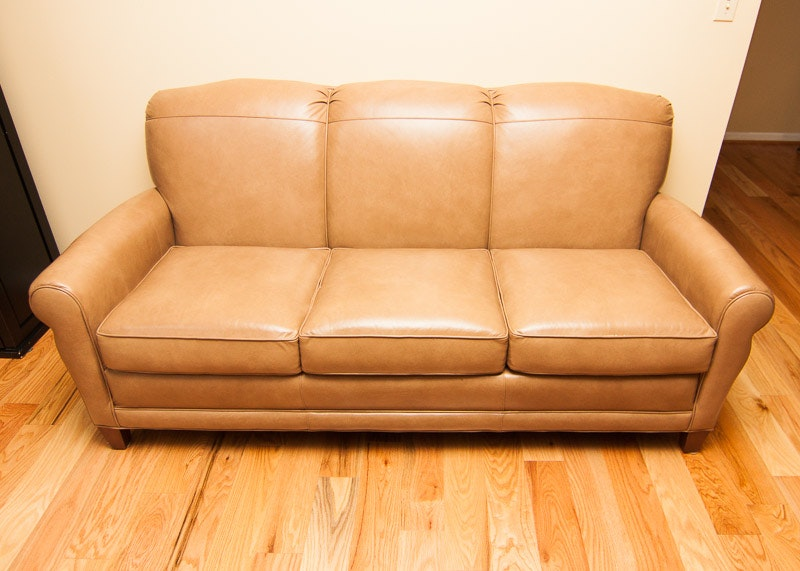 Smith Brothers Vintage Style Leather Sofa ...