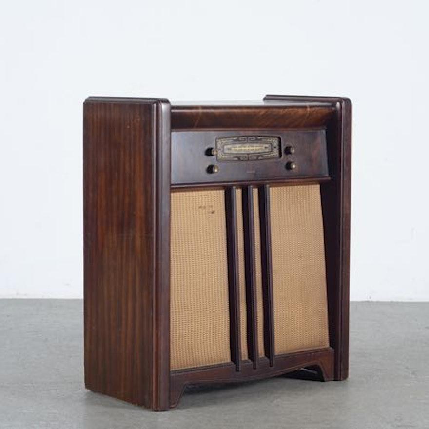 Vintage 1948 Philco Standing Electric Radio EBTH
