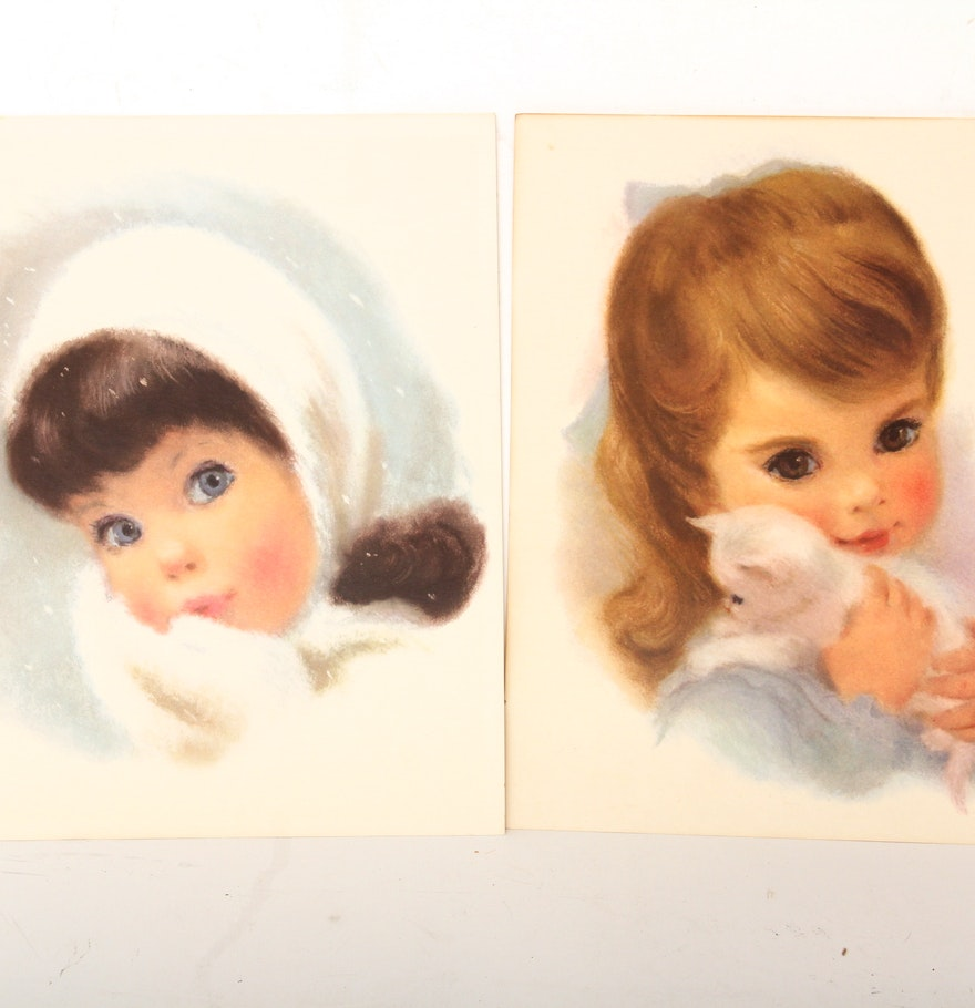 Vintage Northern Bathroom Tissue Prints Ebth