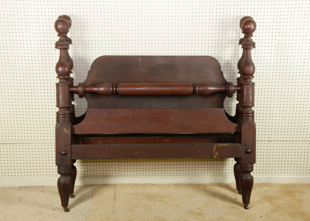 antique full size bed Antique Full Size Cherry Cannon Ball Bed : EBTH antique full size bed