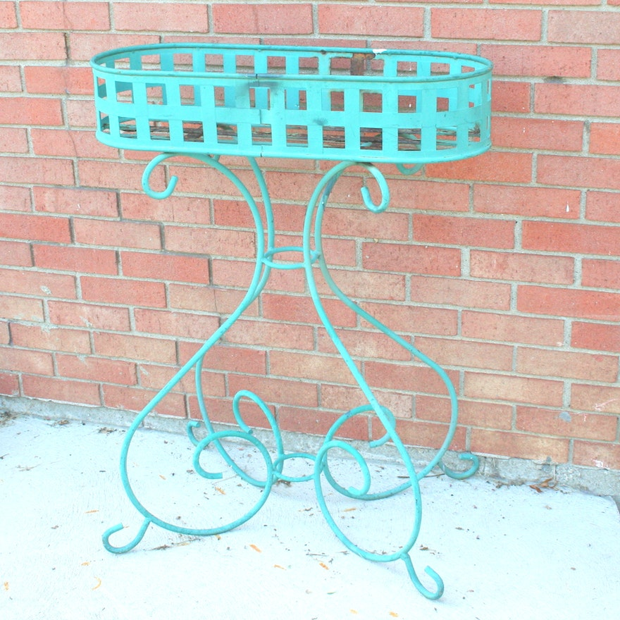Vintage Wrought Iron Plant Stand : EBTH
