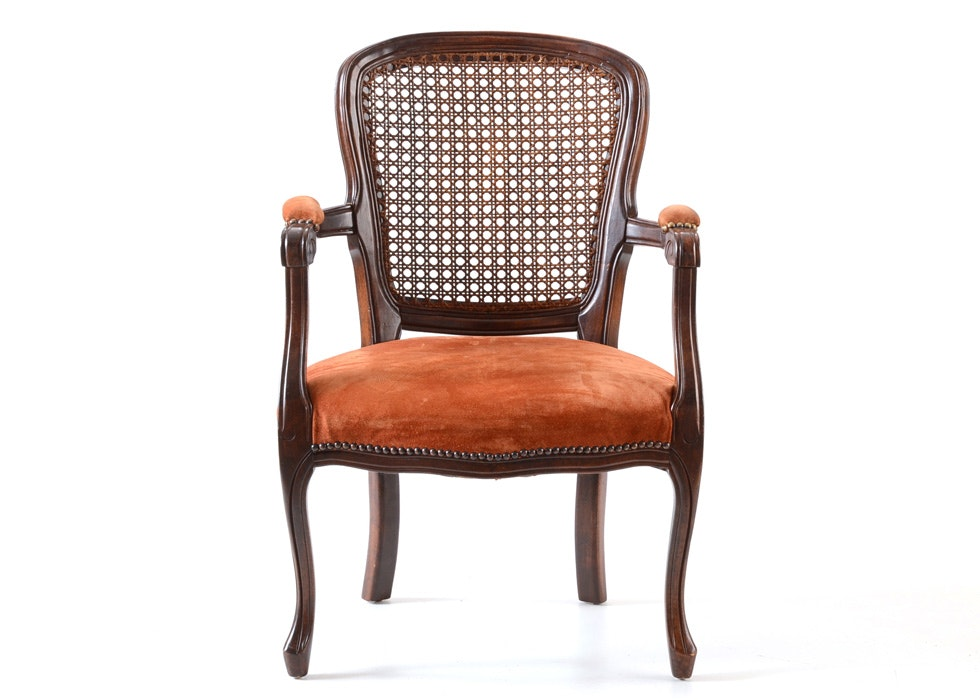 queen anne style cane back chair