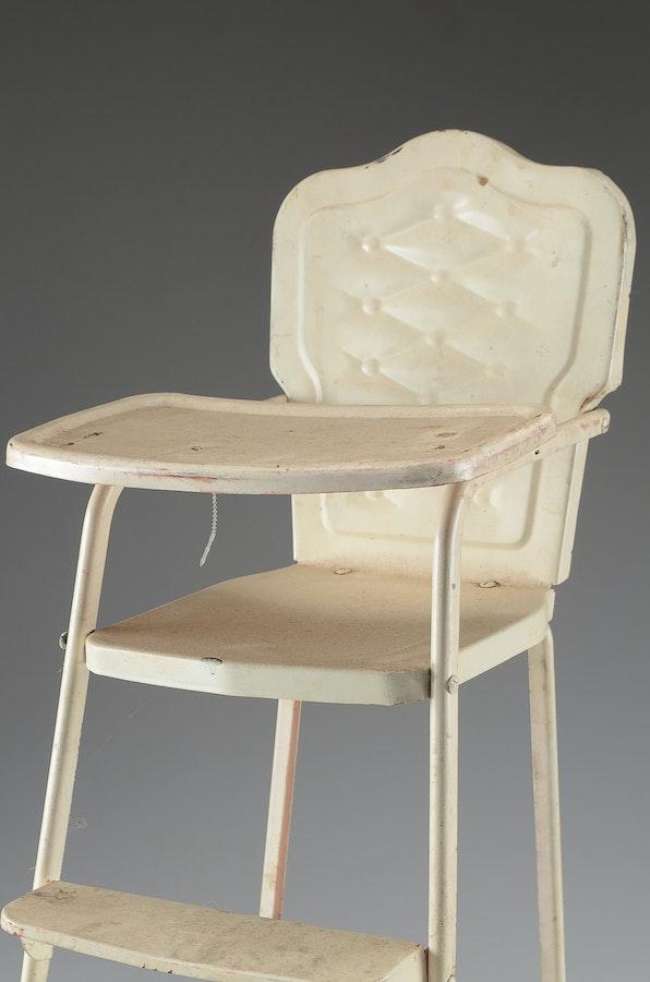 Vintage Metal Doll High Chair EBTH