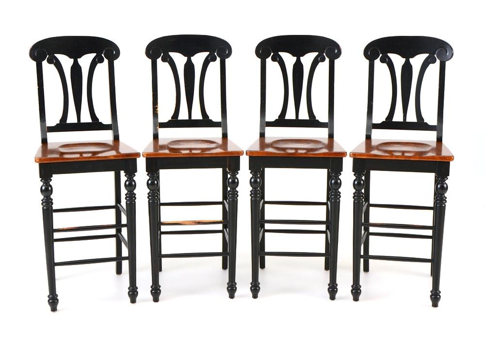 Set Of Four Bar Stools Ebth