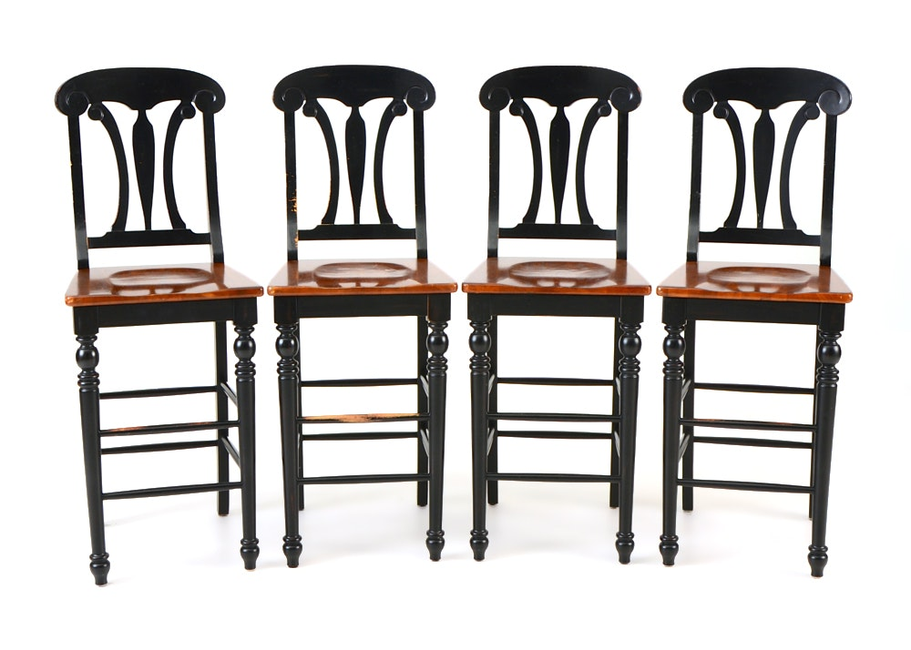 Set Of Four Bar Stools Ebth