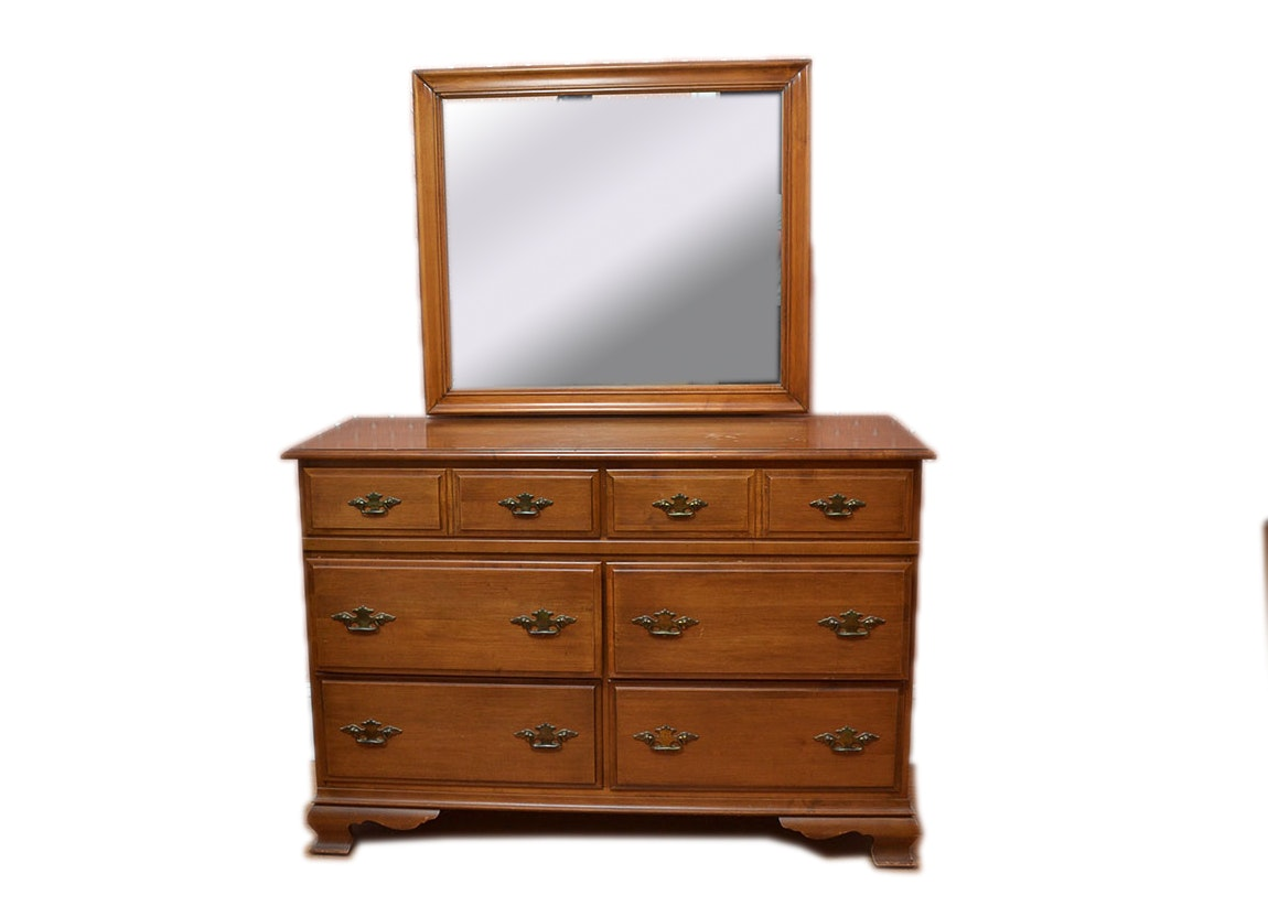 Good Sterling House Chippendale Style Dresser And Mirror ...