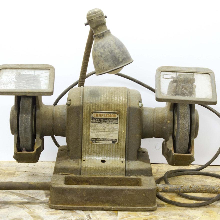 Brilliant Vintage Craftsman 1 2 H P Ball Bearing Capacitor Grinder Beatyapartments Chair Design Images Beatyapartmentscom
