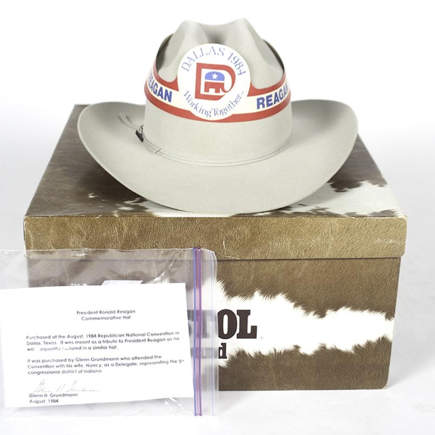 617fd6c50 Reagan Resistol Felted Beaver Fur Cowboy Hat