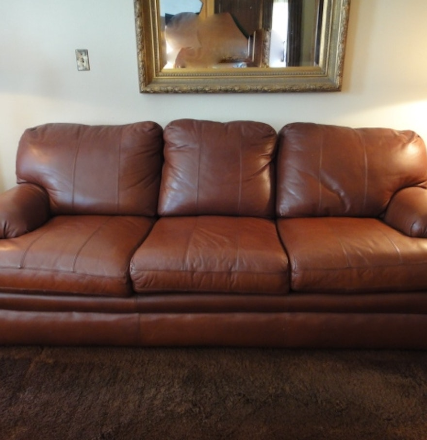 Viewpoint Leather Works Sofa Ebth