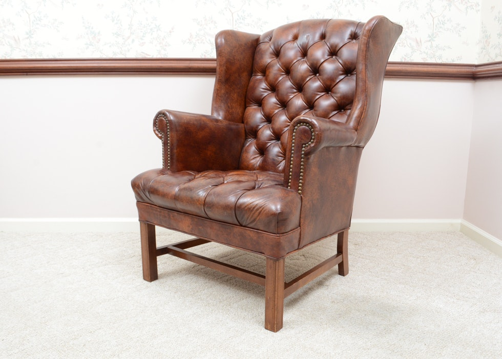 Sienna Naugahyde Wingback Chair ...