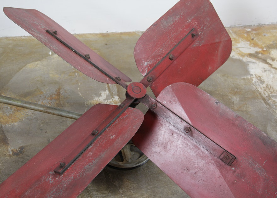 Vintage Industrial Attic Fan Ebth